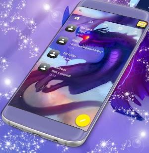 Blue Dragon Free 2017 SMS Theme - náhled