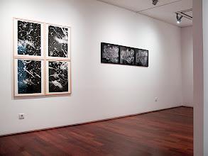 "Photo: © Olivier Perrot  The Museum of Photography, Seoul  Groupe Novembre Accrochage Olivier Perrot  4 Photogrammes de pluie et 3 photogrammes ""nature morte"""