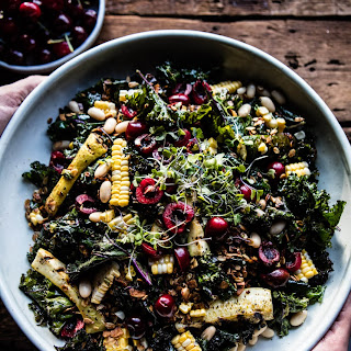 Sunflower Seed, Kale and Cherry Salad with Savory Granola. Recipe
