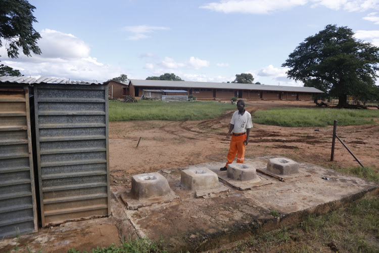 The school governing body chairperson, Samuel Moshapo (54), says the old pit latrine toilets at their school are a threat to the 367 pupils who depend on them.