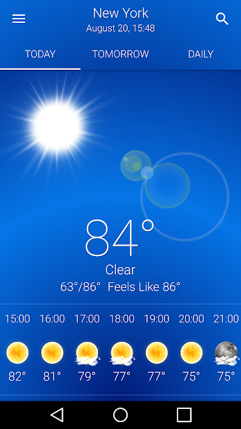 Weather US Android App Screenshot