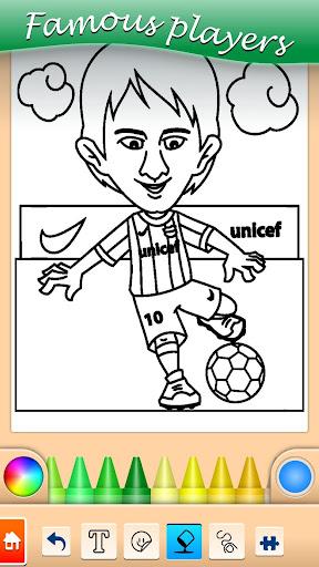 Football coloring book game 13.9.6 screenshots 1