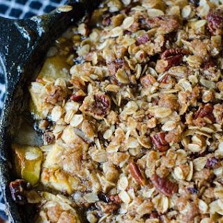 Maple Pecan Goat Cheese Skillet Apple Crisp Recipe