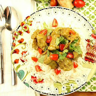 Healthy Lamb Curry with Cilantro, Peanuts and Coconut