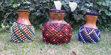 Photo: Shekeré de calabaza - comparación de tamaños