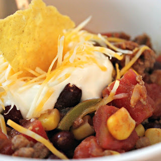 BEEF AND BEAN TACO SOUP