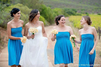 Photo: Bride's maids in the vineyards