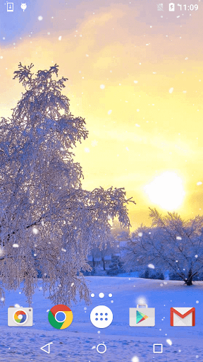 降雪 ライブ壁紙