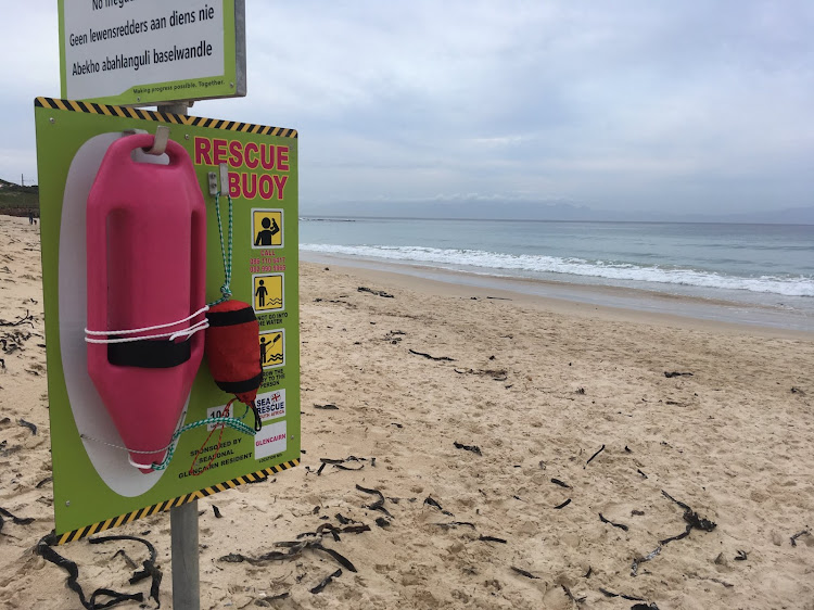 Lifesaving pink buoys are placed at beaches all along South Africa's coast