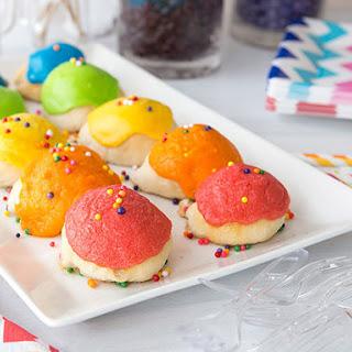Rainbow Marshmallow-Stuffed Donut Holes