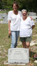 Photo: Rachel Rhoden Great Great Grandmother to Joseph Chancy and Great Great Great Grandmother to Denise Davis                    Family Historians Denise Davis Cento Left and Aunt Lory Chancy wife to Joseph Chancy Right
