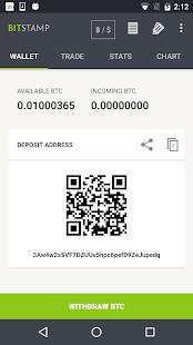 Bitstamp mobile - náhled