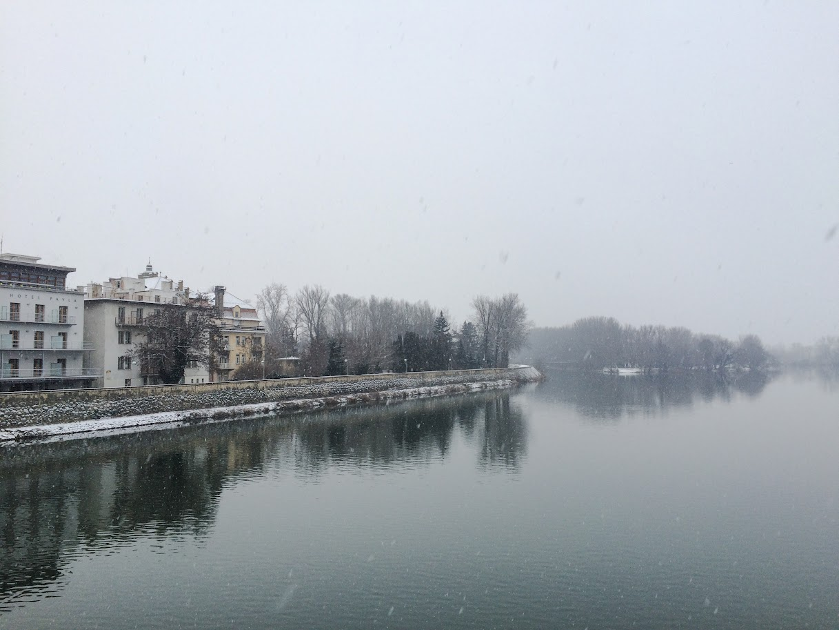 Winter view of Lido, Piešťany, Slovakia