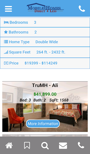 Mobile Homes Direct 4 Less Screenshot