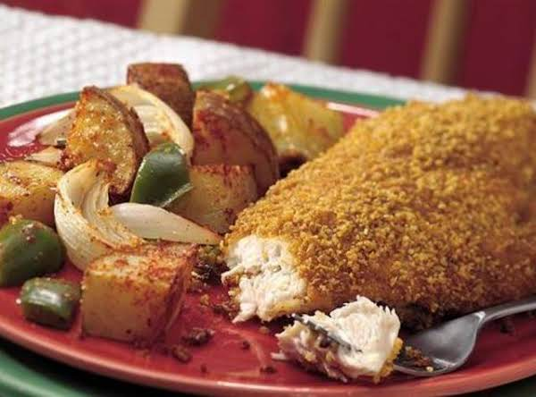 Corn-crisped Chicken And Potato Dinner
