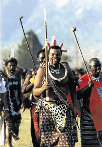 MAN OF THE MOMENT: King Mswati III celebrates in style amid the country's economic crisis.Photo: Sunday Times