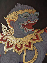 Photo: mural painting of Hanuman, Wat Phra Kaew