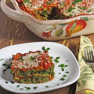 Vegan Spinach & Vegetable Lasagna.