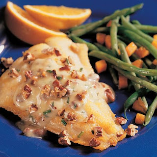 Grilled Walleye with Pecan Butter.