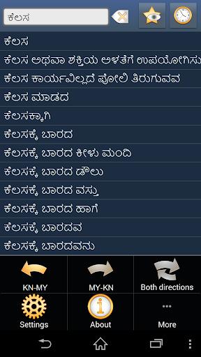 Kannada Myanmar dictionary