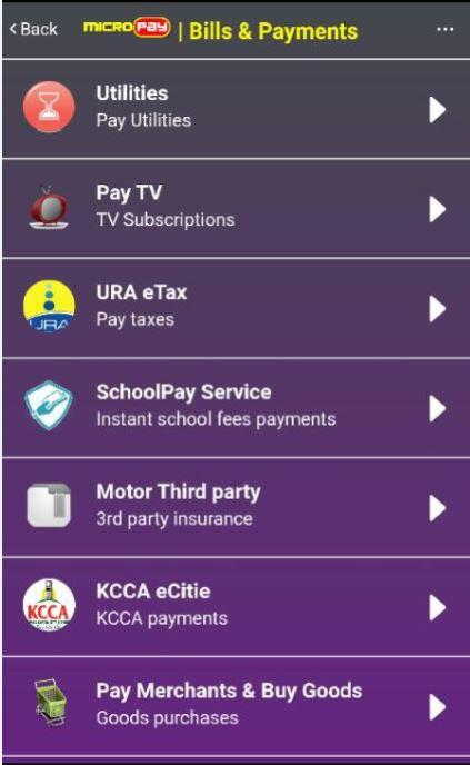 Micropay Mobile Money- screenshot