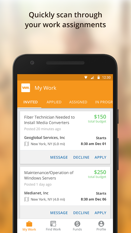 Work Market - Find Jobs and Get Work Done Anywhere- screenshot