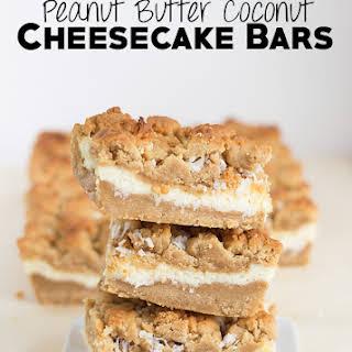 Peanut Butter Coconut Cheesecake Bars.