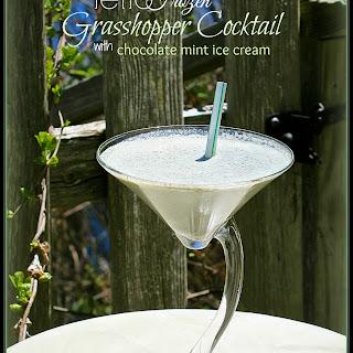 RETRO FROZEN GRASSHOPPER COCKTAIL with CHOCOLATE MINT ICE CREAM Recipe