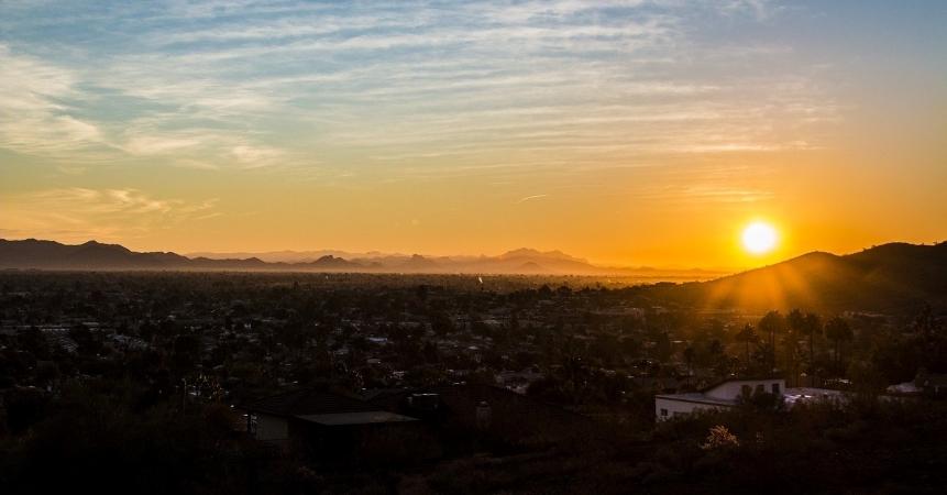 Sunset over Phoenix, Arizona