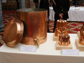 Photo: The large vessel at left is a sauce dispenser, while on the right are cake molds.