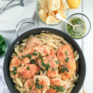 Lemon Chicken Piccata Penne Pasta