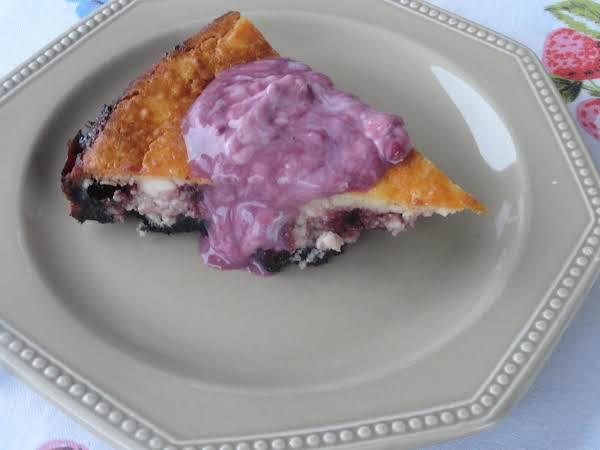 Oreo Blackberry Swirl Cheesecake