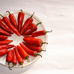 by Ruhi Chanda - Food & Drink Fruits & Vegetables ( colour, plated, red, food, red chillies, vegetables, bell pepper )