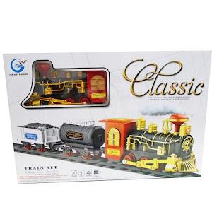 Train Set Classic - trenulet care scoate aburi, sunete si lumini