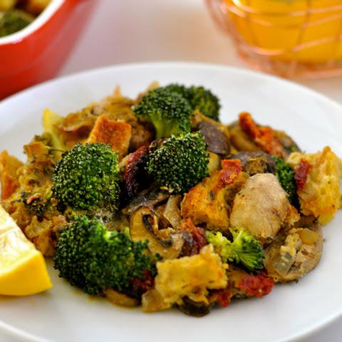 Broccoli Casserole with Mushrooms, Sun-Dried Tomatoes, Italian Bread ...