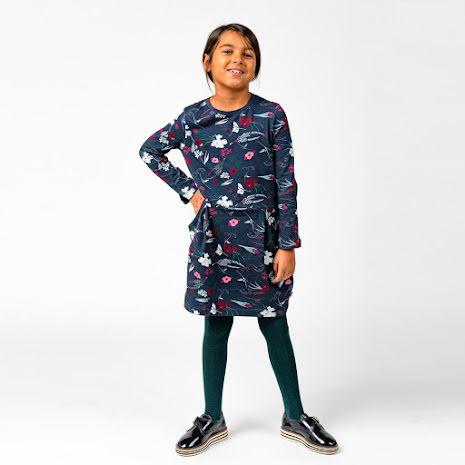 Sacha - Blommönstrad trikåklänning till barn