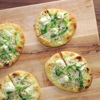 White Cheese & Garlic Pizzas.