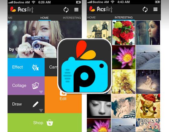 Phần mềm PicsArt Photo Studio full apk