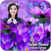 Purple Flower Photo Editor
