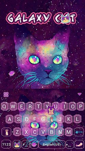 Galaxy Cat Emoji Kika Keyboard