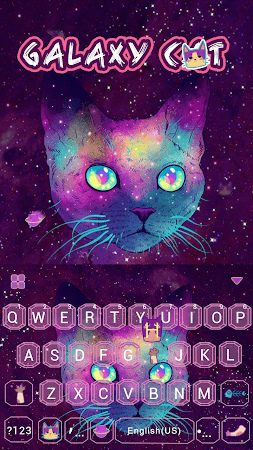 Galaxy Cat Emoji Kika Keyboard 1.0 screenshot 1061188