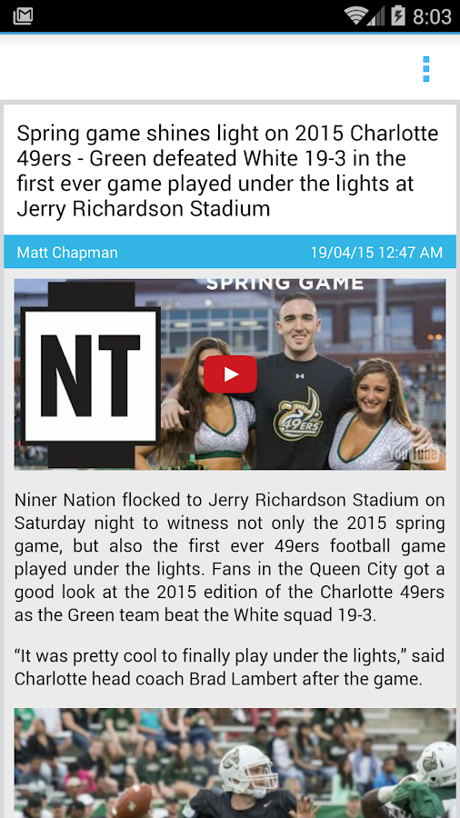 Niner Times- screenshot