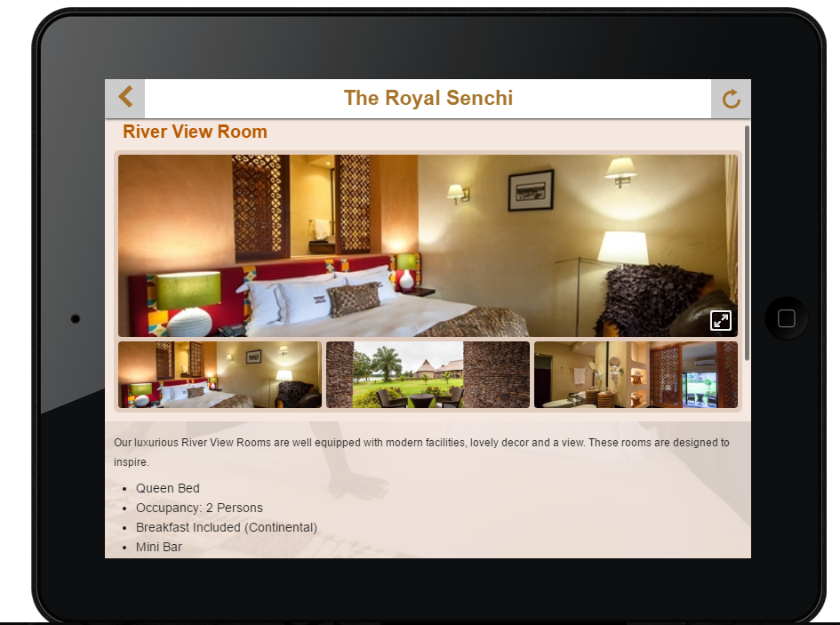 The Royal Senchi Resort/Hotel- screenshot