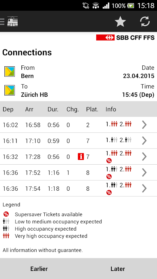 SBB Mobile- screenshot