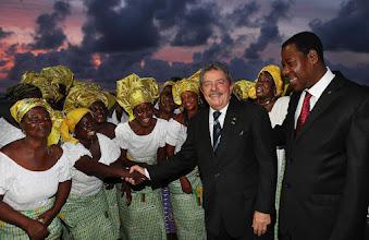 Photo: Lula pouco antes da saída do Benin, acompanhado pelo presidente Boni Yayi. Foto: RIcardo Stuckert/Instituto Lula