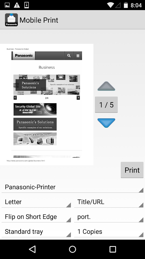 Mobile Print- screenshot
