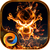 Flame Skull - eTheme Launcher