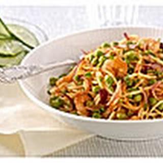 Spaghetti Met Pesto Rosso, Garnalen En Bieslook