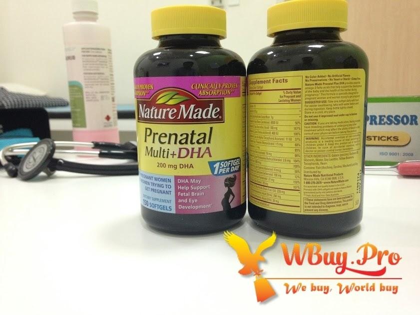 Nature Made Prenatal Multi DHA - Bổ sung DHA cho bà bầu