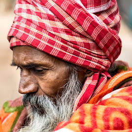 A Hindu devotee ... by Prabir Sen - People Street & Candids ( portraits, candids, people, street photography, religion )